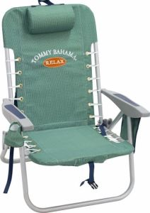 Tommy Bahama Lace Up Backpack Beach Chairs